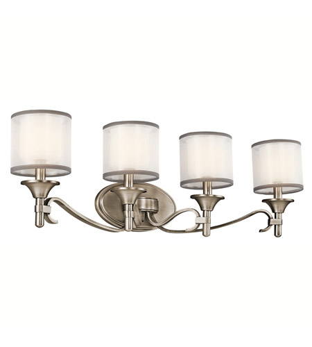 Kichler 45284AP Lacey 4 Light 31 inch Antique Pewter Bath Vanity Wall Light photo