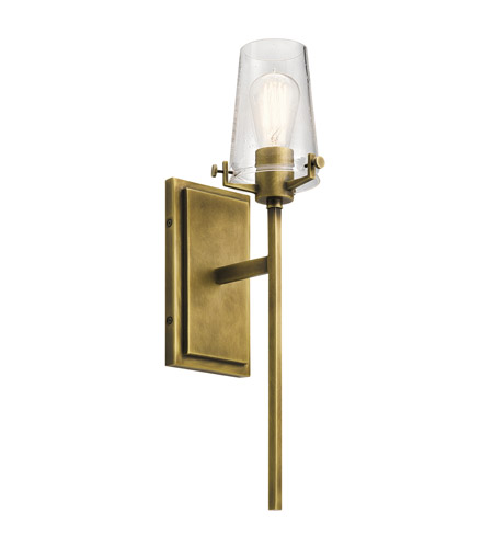 Kichler 45295nbr alton 1 light 5 inch natural brass wall bracket kichler 45295nbr alton 1 light 5 inch natural brass wall bracket wall light aloadofball Choice Image