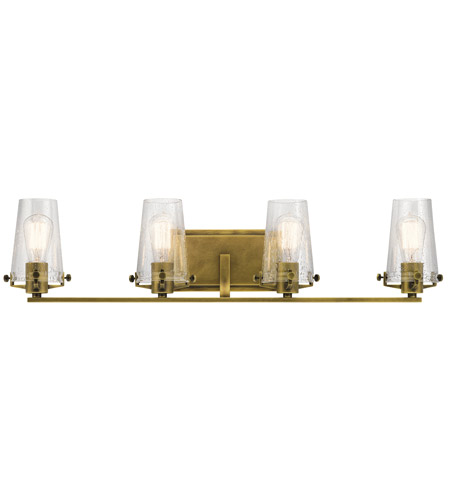Kichler 45298nbr alton 4 light 34 inch natural brass vanity light kichler 45298nbr alton 4 light 34 inch natural brass vanity light wall light photo aloadofball Image collections