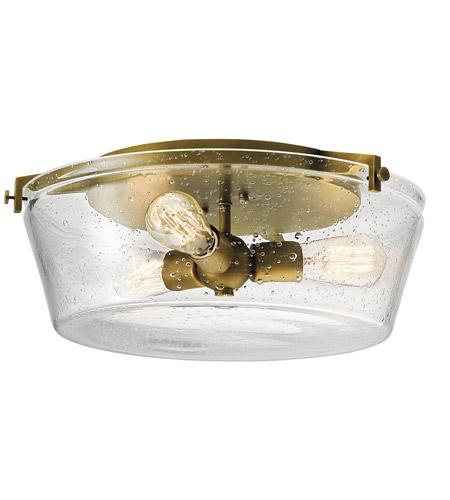 kichler 45299nbr alton 3 light 19 inch natural brass flush mount ceiling light