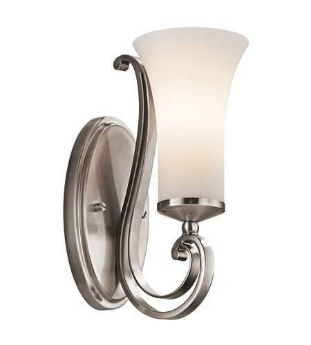 Kichler Lighting Wickham 1 Light Wall Sconce in Classic Pewter 45300CLP