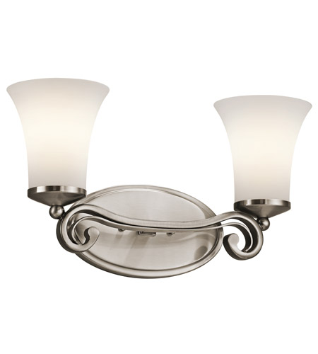 Kichler Lighting Wickham 2 Light Bath Vanity in Classic Pewter 45301CLP