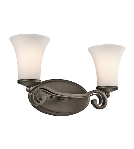 Kichler Lighting Wickham 2 Light Bath Vanity in Olde Bronze 45301OZ photo