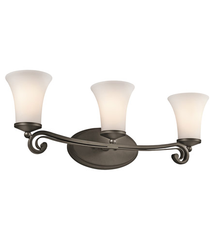 Kichler Lighting Wickham 3 Light Bath Vanity in Olde Bronze 45302OZ photo
