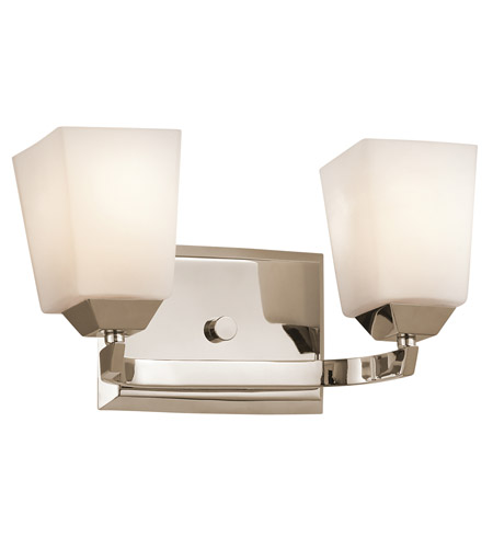 Kichler Lighting Chepstow 2 Light Bath Vanity in Polished Nickel 45305PN photo