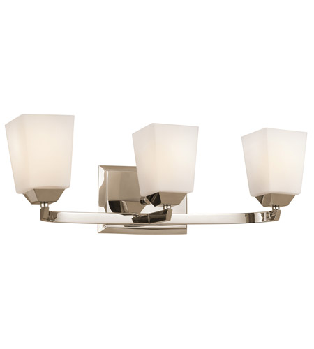 Kichler Lighting Chepstow 3 Light Bath Vanity in Polished Nickel 45306PN