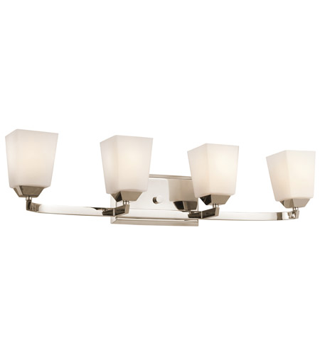 Kichler Lighting Chepstow 4 Light Bath Vanity in Polished Nickel 45307PN
