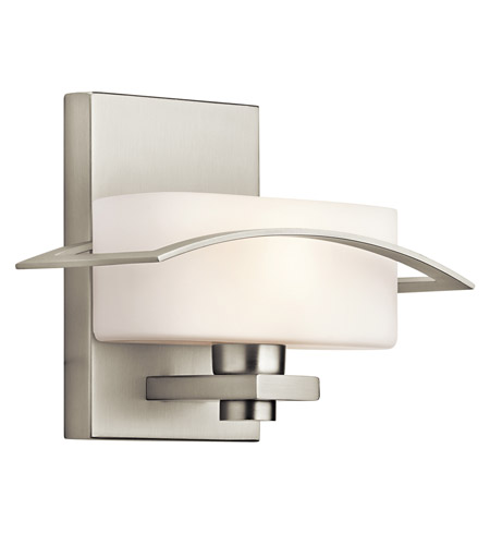 Kichler Lighting Suspension 1 Light Wall Sconce in Brushed Nickel 45315NI photo