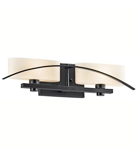 Kichler Lighting Suspension 2 Light Bath Vanity in Black (Painted) 45316BK