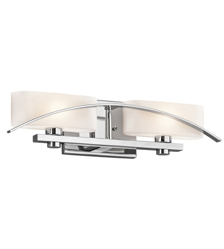 Kichler 45316CH Suspension 2 Light 20 inch Chrome Bath Bracket Wall Light photo