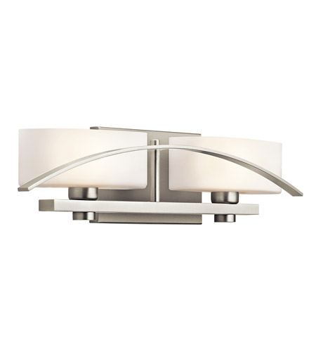 Kichler Lighting Suspension 2 Light Bath Vanity in Brushed Nickel 45316NI