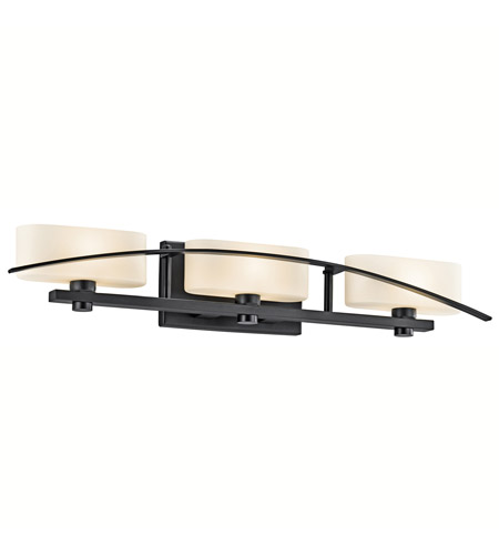 Kichler Lighting Suspension 3 Light Bath Vanity in Black (Painted) 45317BK