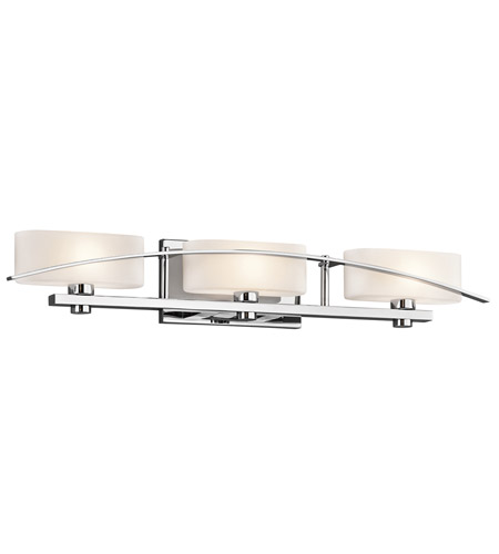 Kichler 45317CH Suspension 3 Light 30 inch Chrome Bath Bracket Wall Light photo