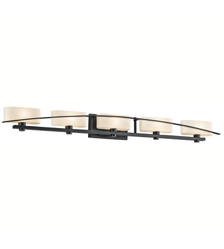 Kichler Lighting Suspension 5 Light Bath Vanity in Black (Painted) 45319BK