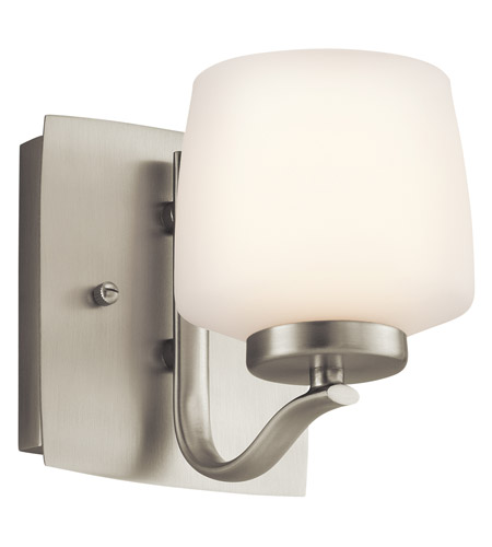 Kichler Lighting Truett 1 Light Wall Sconce in Brushed Nickel 45328NI