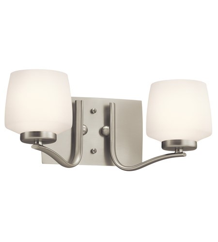 Kichler Lighting Truett 2 Light Bath Vanity in Brushed Nickel 45329NI photo
