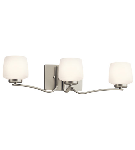Kichler Lighting Truett 3 Light Bath Vanity in Brushed Nickel 45330NI