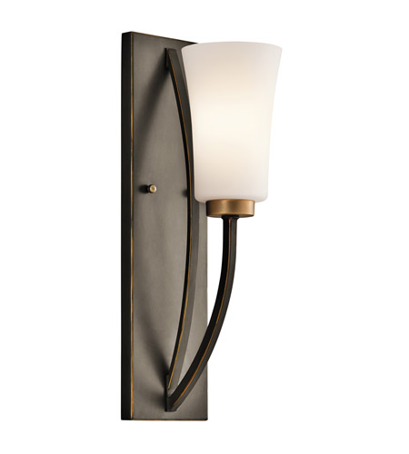 Kichler Lighting Edgecomb 1 Light Wall Sconce in Olde Bronze 45338OZ photo