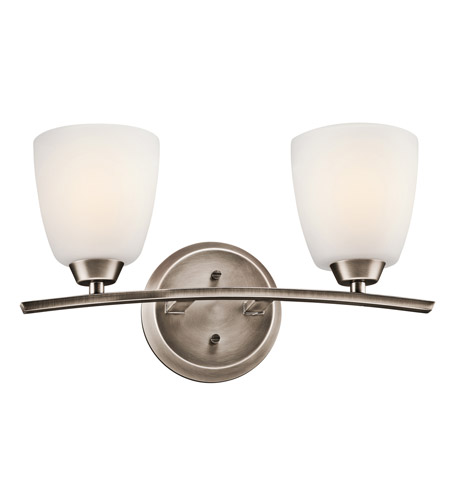 Kichler Lighting Granby 2 Light Bath Vanity in Brushed Pewter 45359BPT photo