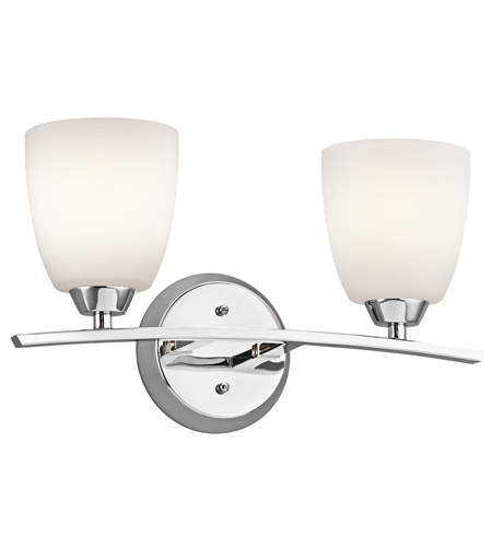 Kichler 45359CH Granby 2 Light 17 inch Chrome Bath Vanity Wall Light photo