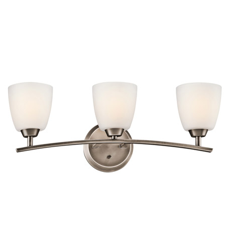 Kichler Lighting Granby 3 Light Bath Vanity in Brushed Pewter 45360BPT