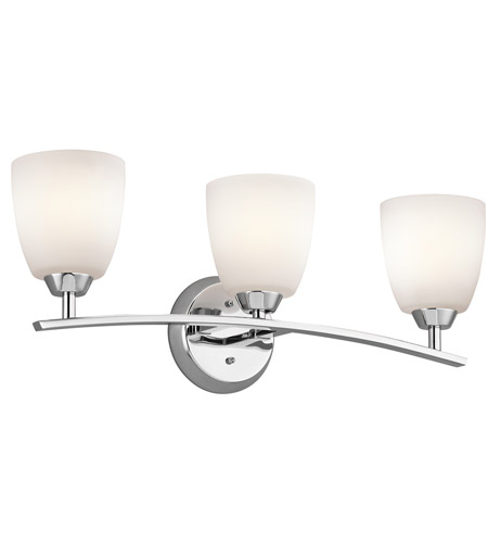Kichler Lighting Granby 3 Light Bath Vanity in Chrome 45360CH