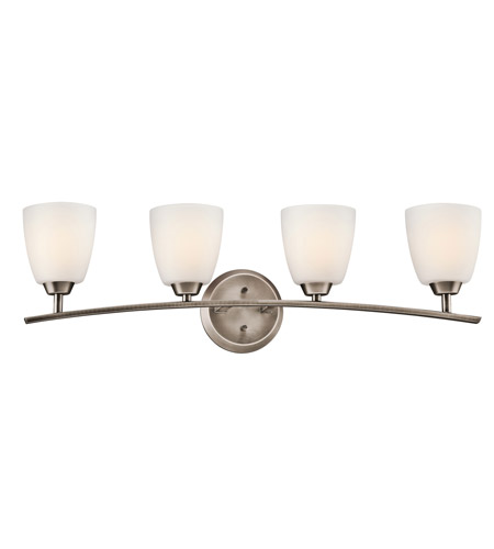 Kichler Lighting Granby 4 Light Bath Vanity in Brushed Pewter 45361BPT