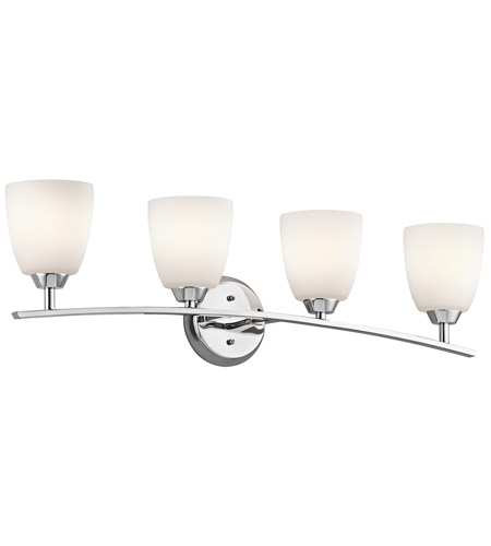 Kichler 45361CH Granby 4 Light 33 inch Chrome Bath Vanity Wall Light photo