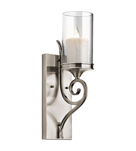 Kichler Lighting Lara 1 Light Wall Sconce in Classic Pewter 45362CLP