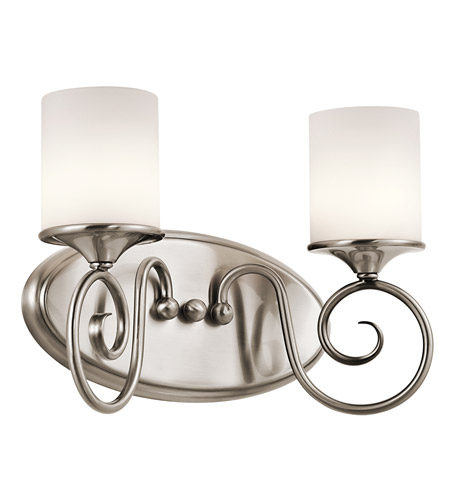 Kichler Lighting Lara 2 Light Bath Vanity in Classic Pewter 45363CLP