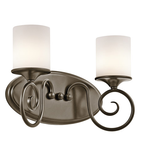 Kichler Lighting Lara 2 Light Bath Vanity in Shadow Bronze 45363SWZ photo