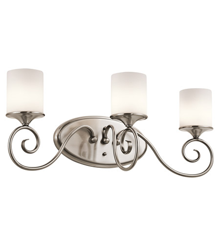 Kichler Lighting Lara 3 Light Bath Vanity in Classic Pewter 45364CLP photo