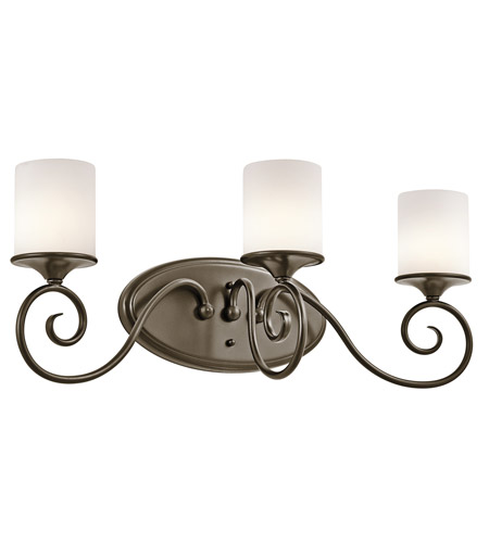Kichler Lighting Lara 3 Light Bath Vanity in Shadow Bronze 45364SWZ photo