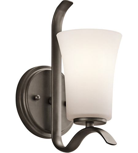 Kichler Lighting Armida 1 Light Wall Sconce in Olde Bronze 45374OZ
