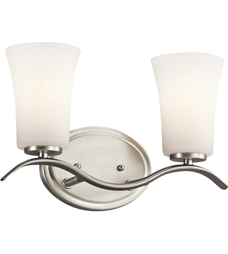 Kichler Lighting Armida 2 Light Bath Vanity in Brushed Nickel 45375NI