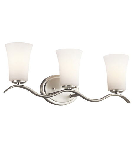 Kichler Lighting Armida 3 Light Bath Vanity in Brushed Nickel 45376NI photo