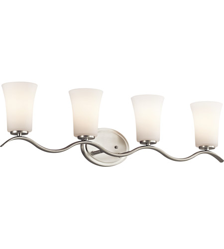 Kichler Lighting Armida 4 Light Bath Vanity in Brushed Nickel 45377NI