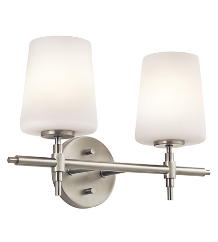 Kichler Lighting Builder Arvella 2 Light Bath Vanity in Brushed Nickel 45386NI photo