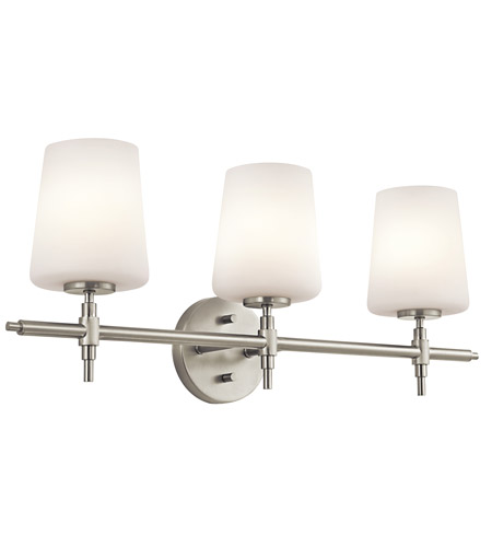Kichler Lighting Builder Arvella 3 Light Bath Vanity in Brushed Nickel 45387NI