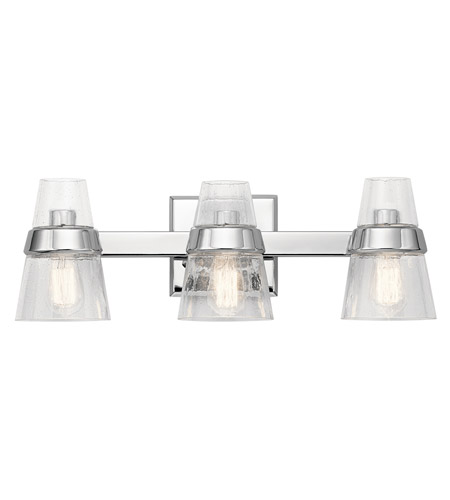 Kichler 45397ch reese 3 light 24 inch chrome vanity light wall light aloadofball Image collections