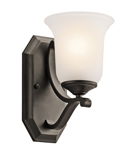 Kichler Lighting Wellington Square 1 Light Wall Sconce in Olde Bronze 45401OZ photo