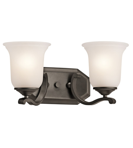 Kichler Lighting Wellington Square 2 Light Bath Vanity in Olde Bronze 45402OZ