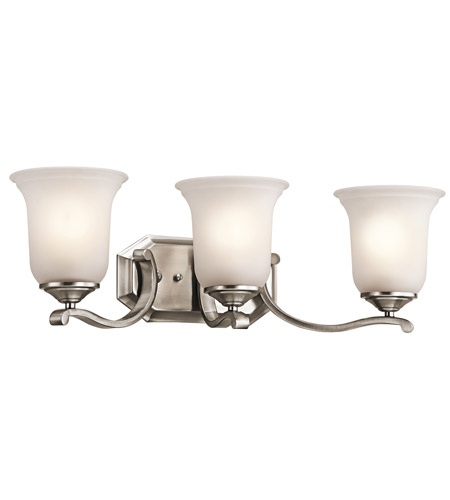 Kichler 45403CLP Wellington Square 3 Light 24 inch Classic Pewter Bath Vanity Wall Light photo