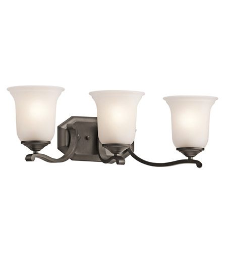 Kichler Lighting Wellington Square 3 Light Bath Vanity in Olde Bronze 45403OZ photo