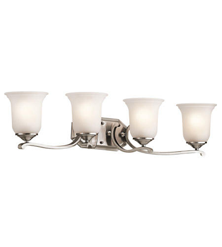 Kichler Lighting Wellington Square 4 Light Bath Vanity in Classic Pewter 45404CLP