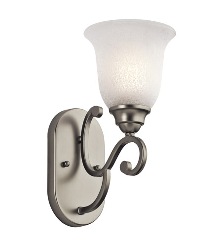 Kichler Lighting Camerena 1 Light Wall Bracket in Brushed Nickel 45421NI