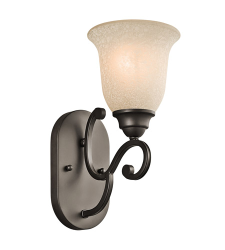 Kichler 45421OZ Camerena 1 Light 6 inch Olde Bronze Bath Vanity Wall Light photo