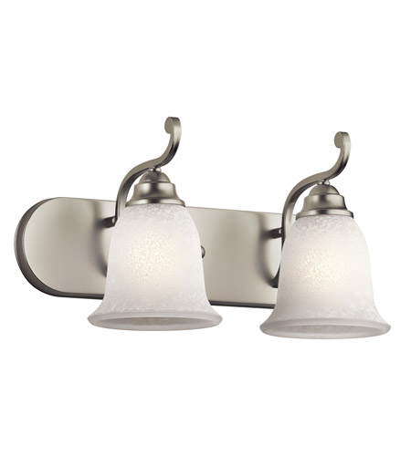 Kichler Lighting Camerena 2 Light Bath Wall in Brushed Nickel 45422NI