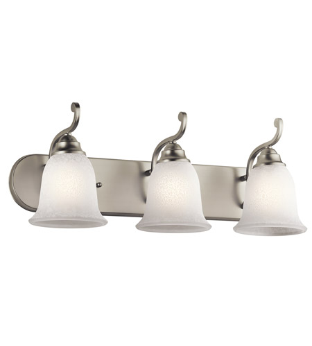 Kichler Lighting Camerena 3 Light Bath Wall in Brushed Nickel 45423NI photo