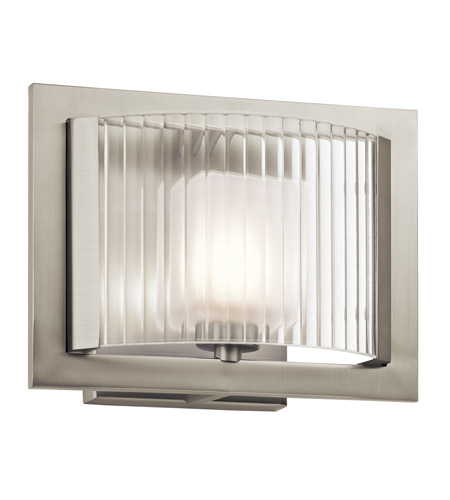 Kichler Lighting Rigate 1 Light Wall Sconce in Brushed Nickel 45441NI